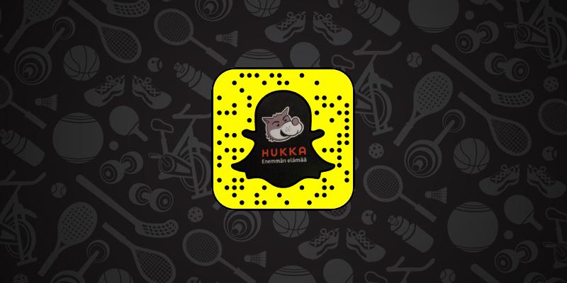 Hukka myös Snapchatissa!